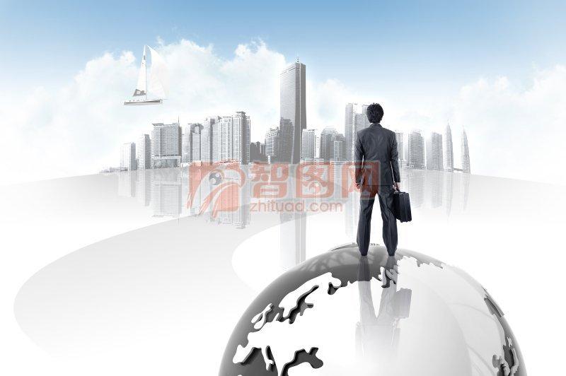 地球 楼房商条创意
