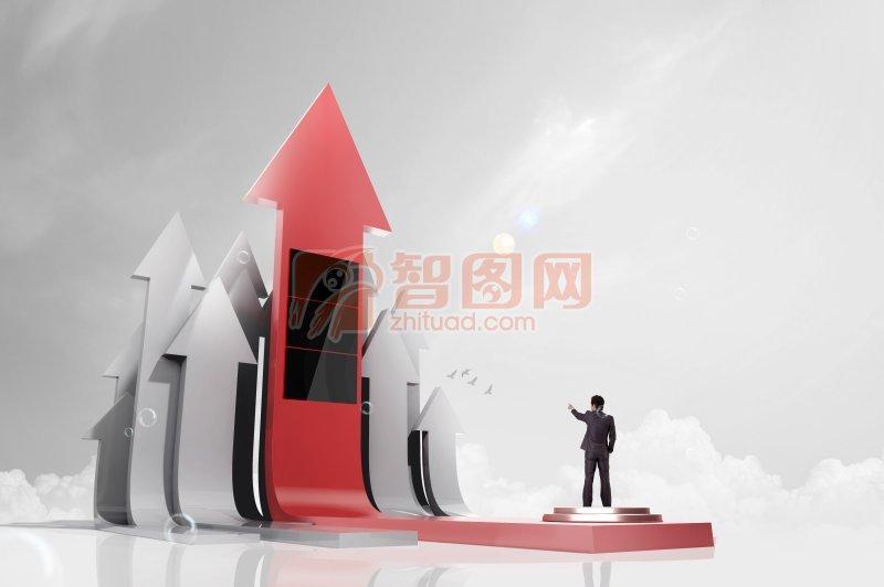 企业上升创意海报