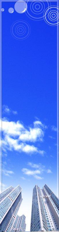天空背景展板