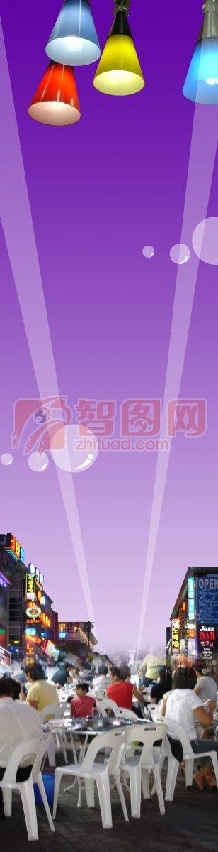 【psd】紫色背景展板_图片编号:201102090138066283