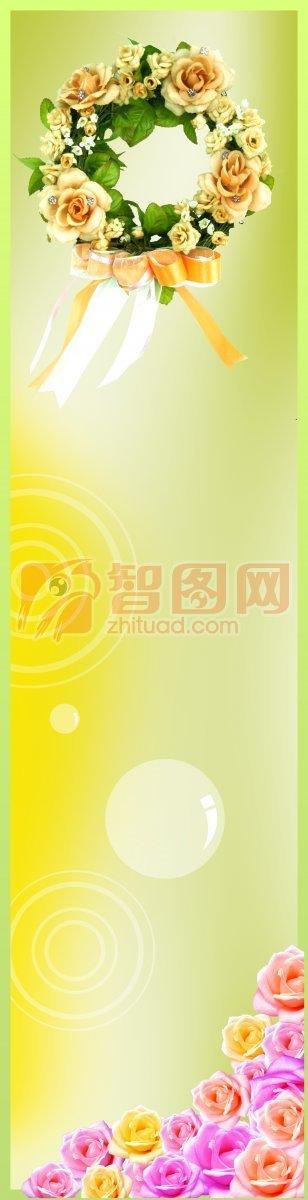 浅黄色展板设计