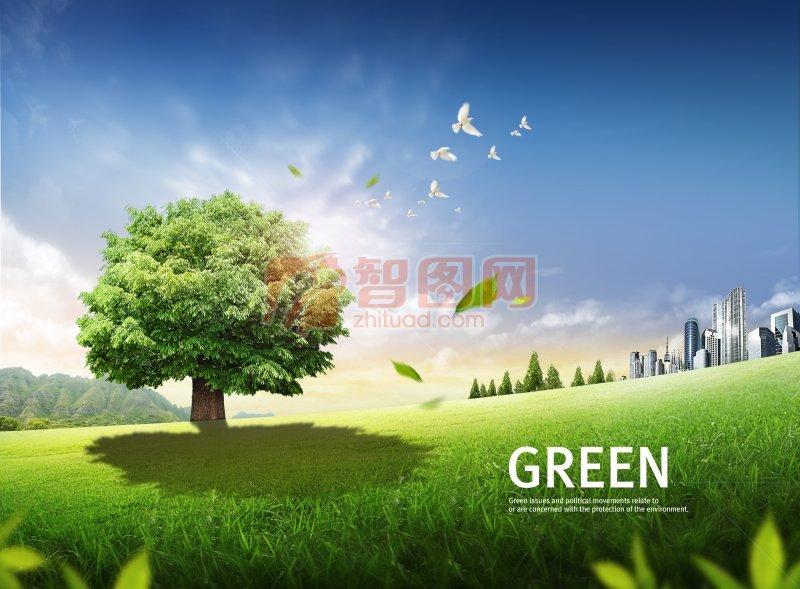 首页 ps分层专区 广告设计 海报设计  关键词: 树 建筑 建筑背景 绿地