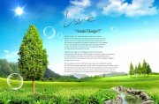 自然風景海報