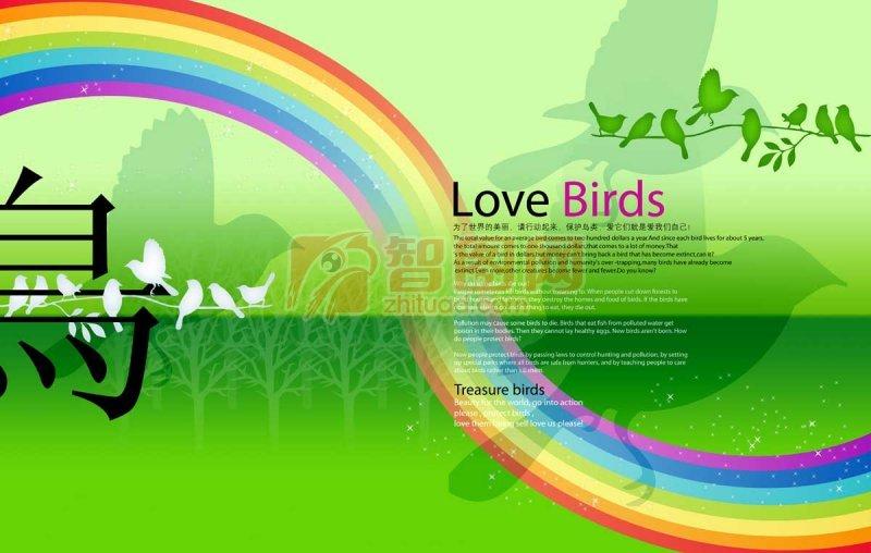 爱鸟系列素材
