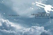 云朵背景元素 灰色背景主题画册