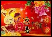 2011中国年 大红中国风背景素材