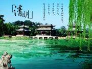 自然风景清明节海报