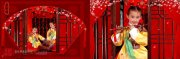 韩国文化底纹背景素材