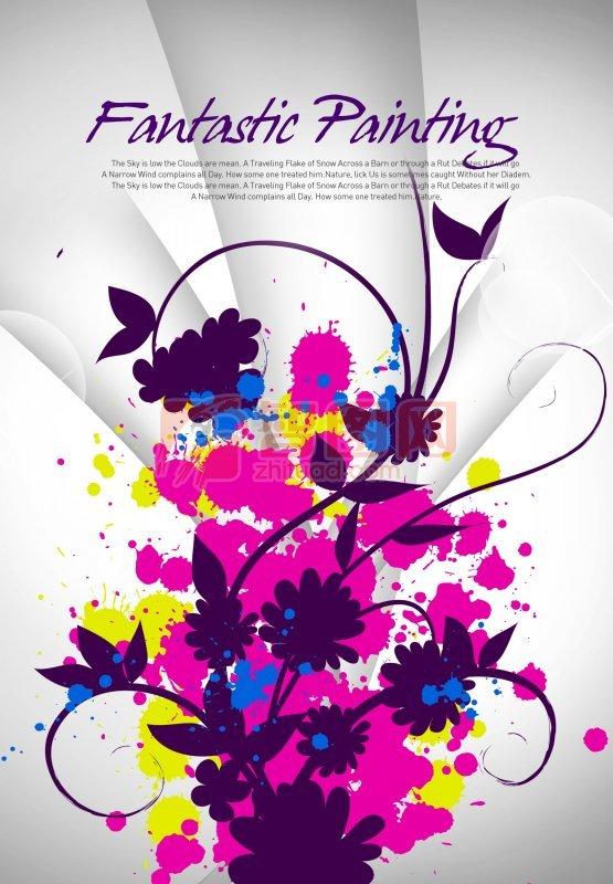 紫色线条花纹
