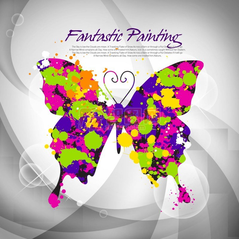 蝴蝶花纹设计
