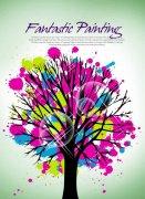 大树花纹设计