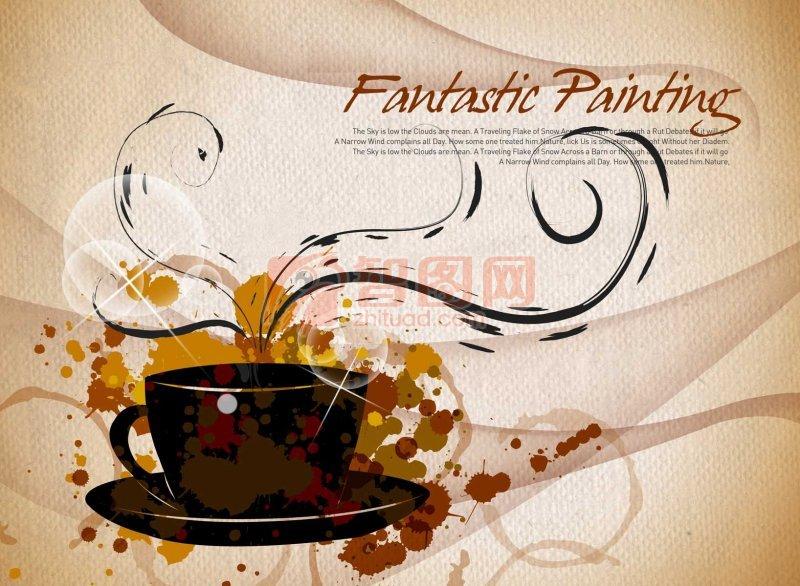 茶杯花纹设计