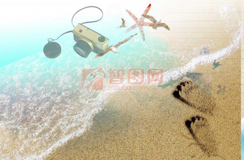 海边花纹设计