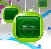 绿色显示花纹设计