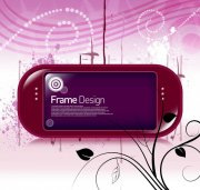 紫色边框花纹