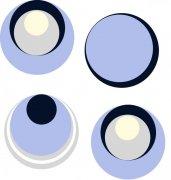 藍黑色圓圈花紋