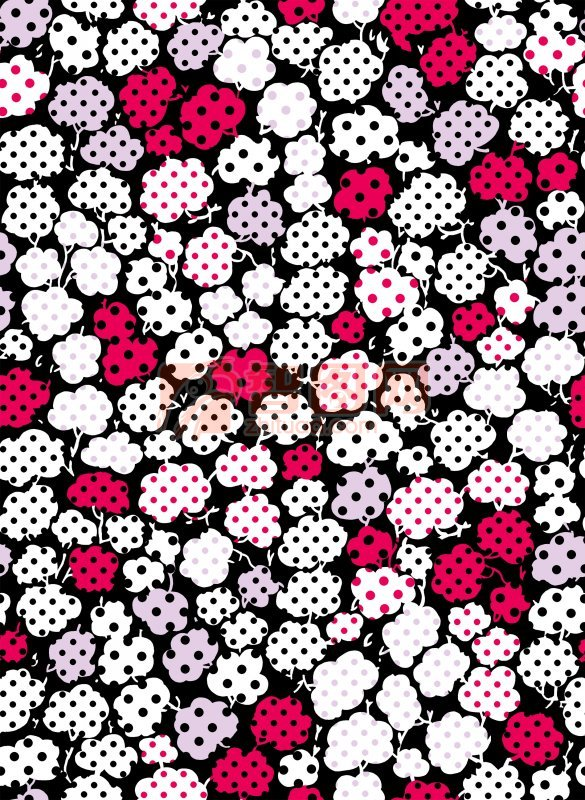 五彩棉花背景