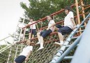 玩耍的学生