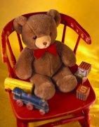 小熊玩具 紅色餐 兒童玩具