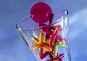 玻璃杯 兒童玩具 粉紅色玻璃球