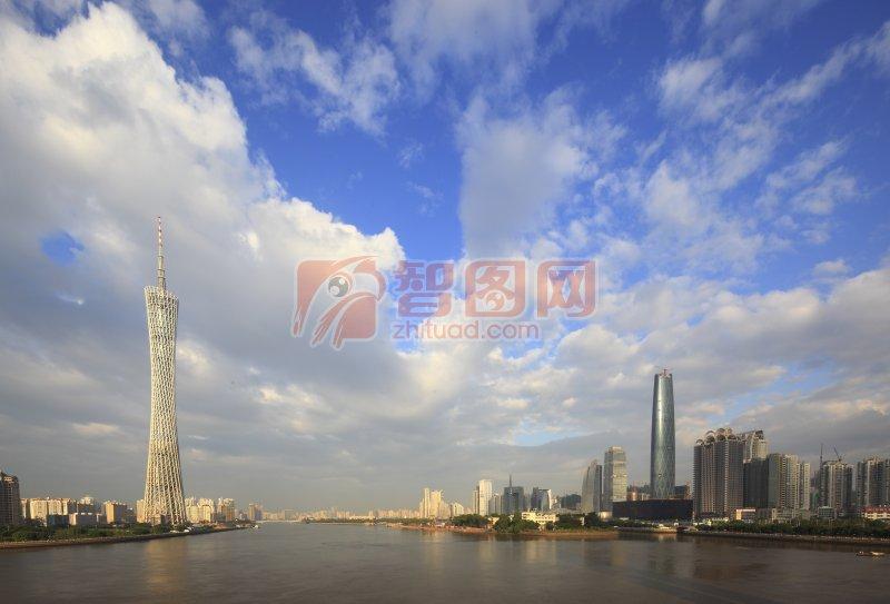 建筑风貌 科技建筑摄影 金色建筑背景 说明:-广州图片010-电视塔 上一