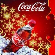 紅色背景可口可樂海報