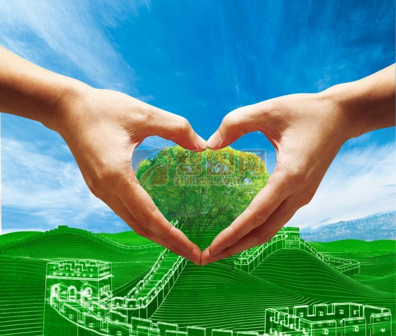 蓝色绿色背景海报设计素材