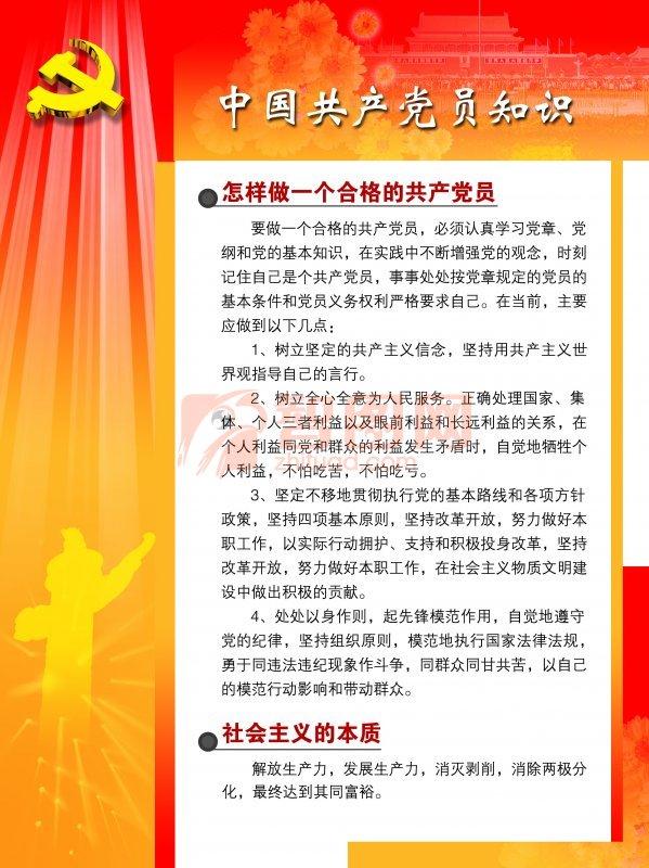 中国共产党展板设计