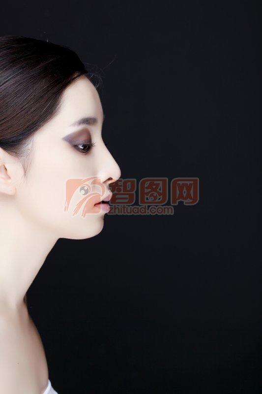 美女手绘侧脸图片现代