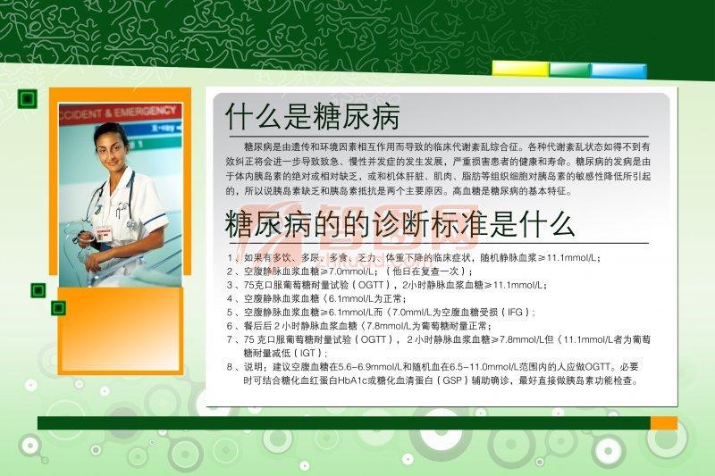 糖尿病知识展板设计