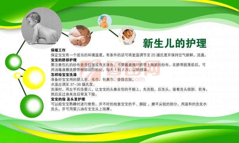 新生儿的护理展板设计