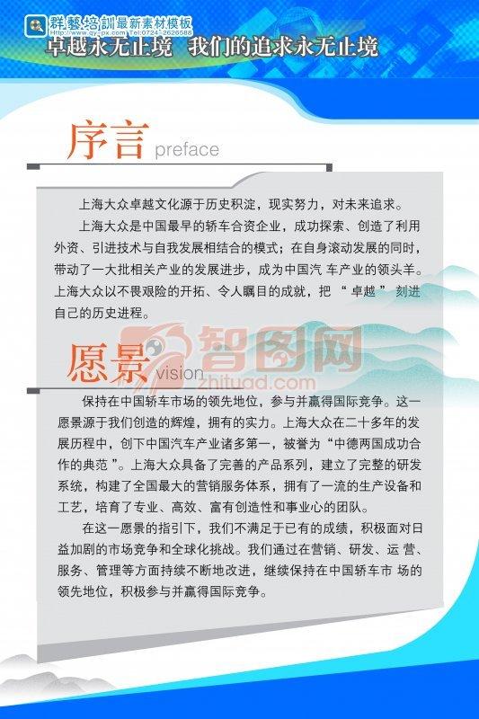 上海大眾卓越文化展板