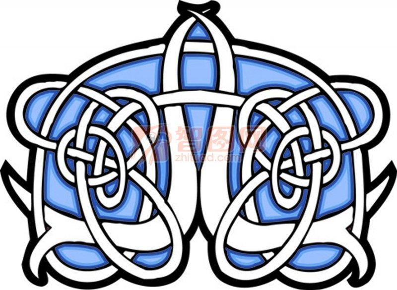 蓝色装饰花纹