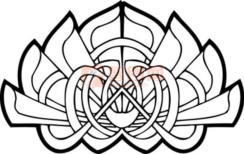 【ai】黑白色花纹设计