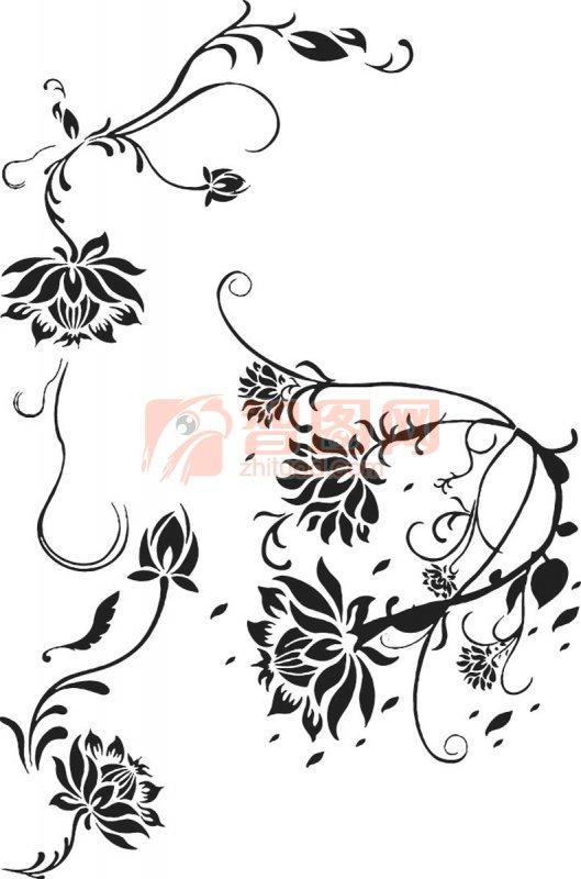 简约可爱花纹简笔画