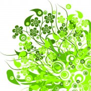 绿色的角饰