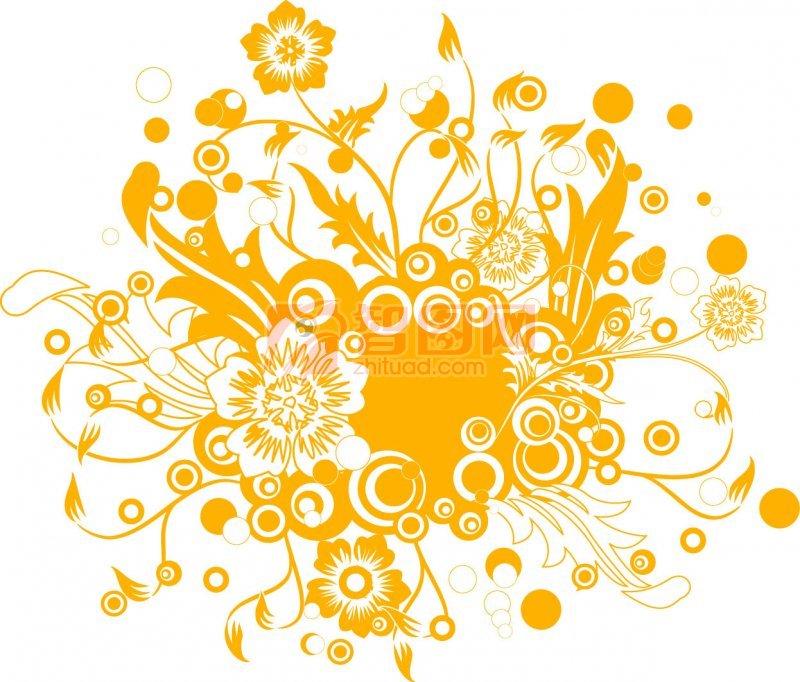 金黃色花紋