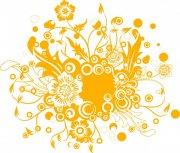 金黄色花纹