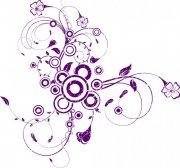 紫色花紋素材