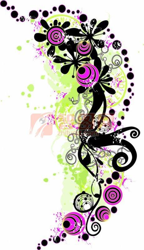 紫黑色图案