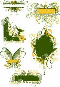 绿色花纹展示