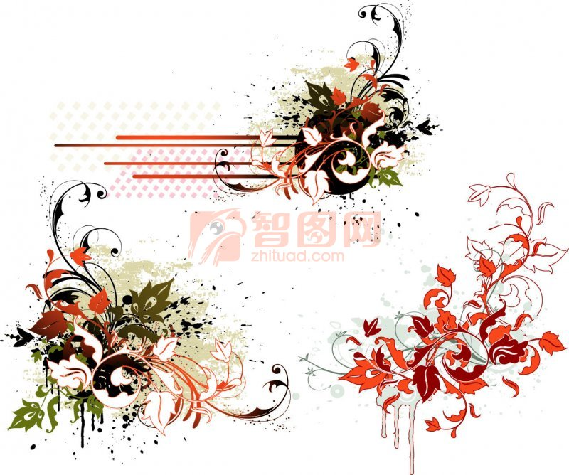 五色花纹展示