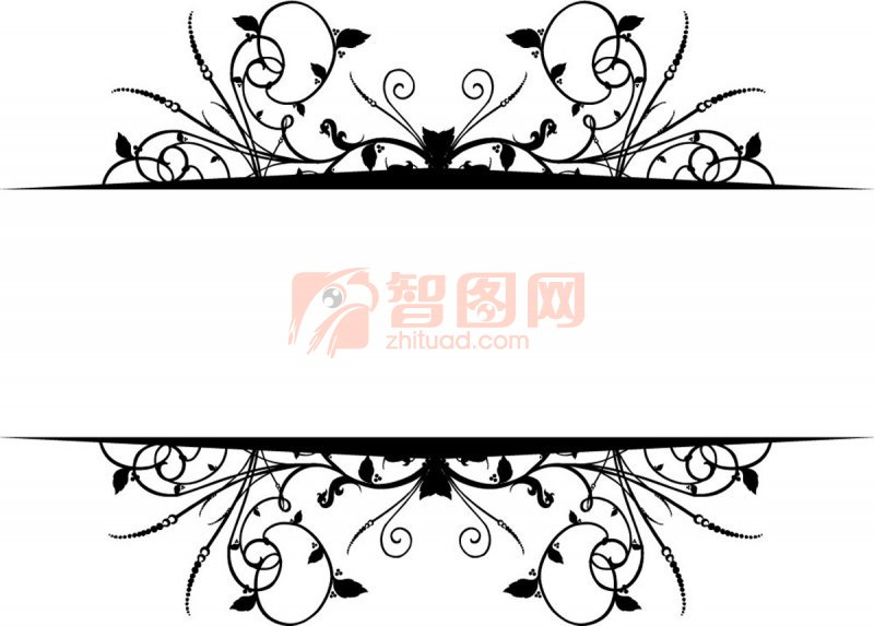 【ai】黑色花纹设计