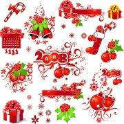 紅色花紋設計
