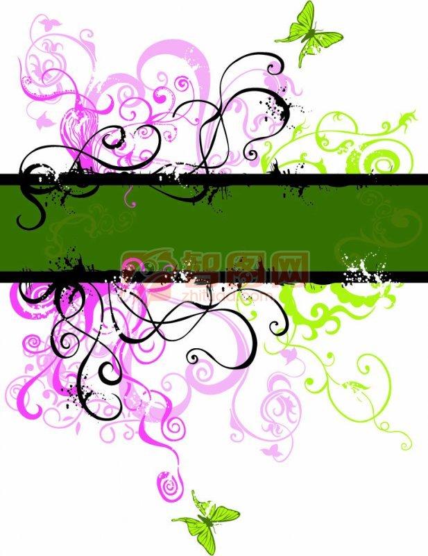 深绿色素材 粉红色条纹
