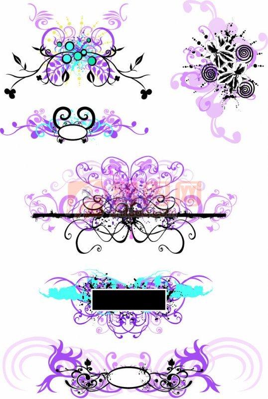 紫粉色花纹