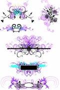 紫粉色花紋