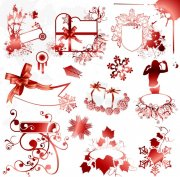暗紅色花紋展示