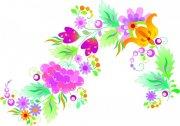 精致花卉花纹