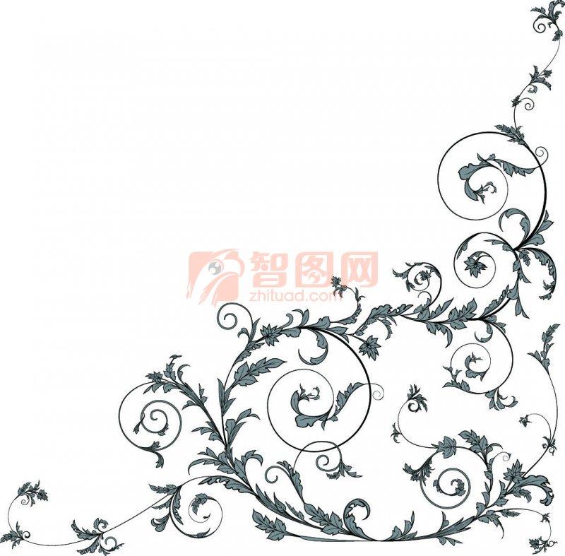 灰色花纹设计